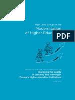 2013 EU High-level Group on Modernisation of Higher Education