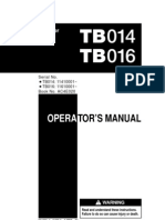 TB016 Operators Manual Takeuchi