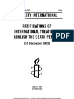 RATIFICATIONS OF INTERNATIONAL TREATIES TO ABOLISH THE DEATH PENALTY (31 December 2008)