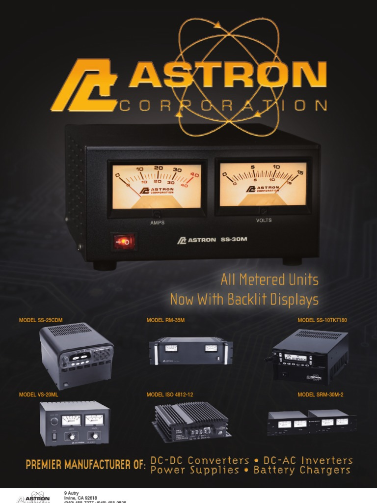 Astron Non Isolated Dc-Dc 40 Amp Converter N2412-40