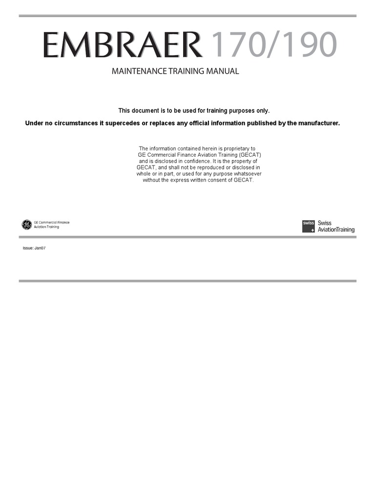 embraer 190 training manual pdf