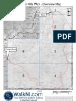 Antrim Hills Way Overview Map