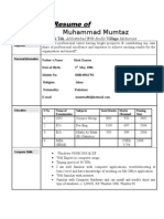 mumtaz cv 2.doc1