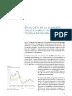 Evolución dE la situación y decisiones de política monetaria