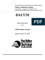 Call Center DACUM April 2007