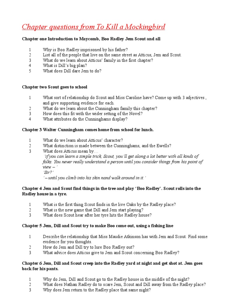 Argumentative Essay About Death Penalty  Education On Essay also How To Write An Essay On A Novel Chapter Questions From To Kill A Mockingbird All  To Kill A Mockingbird Essay Share