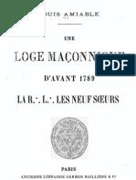 Amiable Louis - Une loge maçonnique d'avant 1789
