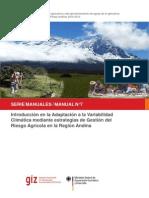 GIZ Introducción en la adaptación a la variabilidad climática mediante estrategias de gestión