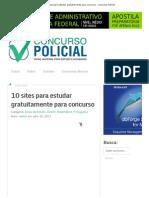 10 Sites Para Estudar Gratuitamente Para Concurso - Concurso Policial