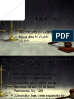 Decisions of the Lower Courts