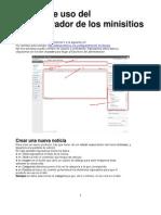 Manual de Uso Minisitios