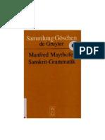 Mayrhofer Manfred Sanskrit Grammatik Mit Sprachvergleichende