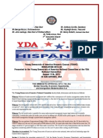 YDA Hispanic Caucus Immigration Reform Resolution 2013