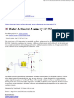 Water Activated Alarm by IC 555 _ Eleccircuit