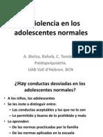 La Violencia en Los Adolescentes Normales