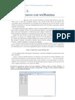Manual de wxMaxima. Práctica 1.