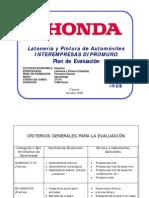 PLAN DE EVALUACIÓN LATONERÍA Y PINTURA DE AUTOMÓVILES GLP2 2009