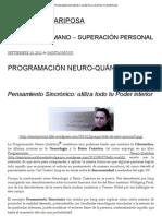 PROGRAMACIÓN NEURO-QUÁNTICA _ CAMBIA LOS PROGRAMAS Y CAMBIAS TU VIDA