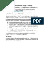 Terminos y Condiciones Galaxy s4 Concurso