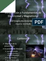 Presentacion Introducción a Fundamentos de Electricidad y Magnetismo.ppsx