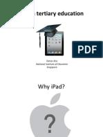 iPad in Tertiary Education Presentation