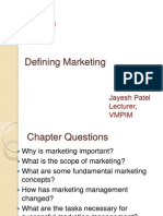 Ch 01 Defining Marketing
