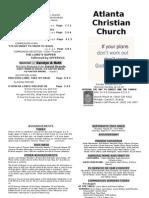 August 18 2013 Church Bulletin