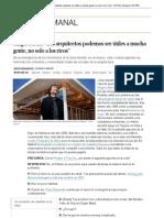 """Shigeru Ban_ """"Los arquitectos podemos ser útiles a mucha gente, no solo a los ricos"""" _ El País Semanal _ EL PAÍS"""