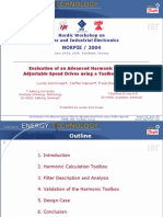 021 - Evaluation of an Advanced Harmonic Filter for Adjustable Speed Drivesusinga Toolbox Approach