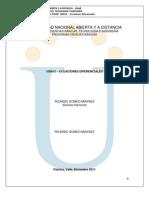 Protocolo de Ecuaciones Diferenciales 2013