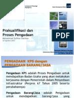 Prakualifikasi dan Proses Pengadaan dalam Skema Kerjasama Pemerintah dan Swasta