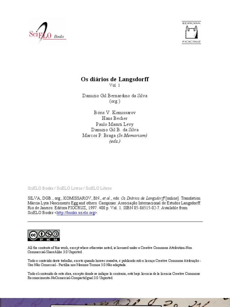 Os diários de Langsdorff vol 1 c057732d083