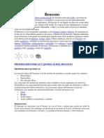 Propiedades Fisicas y Quimicas Del Benceno