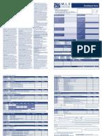 영국 MLS 본머스 Enrolment form 2011-12