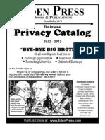 Eden Press Privacy Catalog