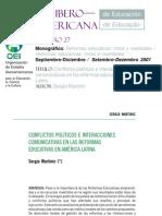Reformas Educativas en America Latina SERGIO MARTINIC