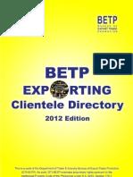 Betp Exporting Clientele Directory 2012