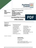 Auckland Plan Committee 28-30 Aug Agenda