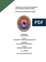 Informe 10 - Soluciones y Propiedades Coligativas