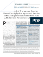 Manual Physical Therapy and Exercise Versus Electrophysical Agents and Exercise in the Management of Plantar Heel Pain - A Multicenter Randomized Clinical Trial.pdf