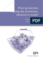 IPA Price Promotion During the Downturn report