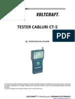 Manual Tester Cabluri Voltcraft CT5