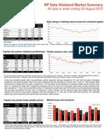 RP Data Market Summary (WE August 25 2013)