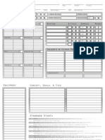 Dragon Age Character Sheet (Editable)