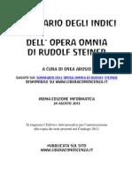 Sommario Degli Indici - 1a Edizione - 24 Agosto 2013