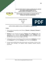 Trial PMR 2013 SBP Bahasa Melayu Kertas 2
