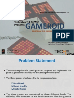 GAMEROID Instructions