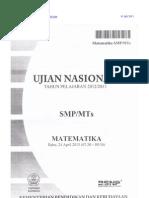 soaldanpembahasanujiannasionalmatematikasmp2013paket1-130720041213-phpapp02
