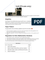 Syllabus for UoS