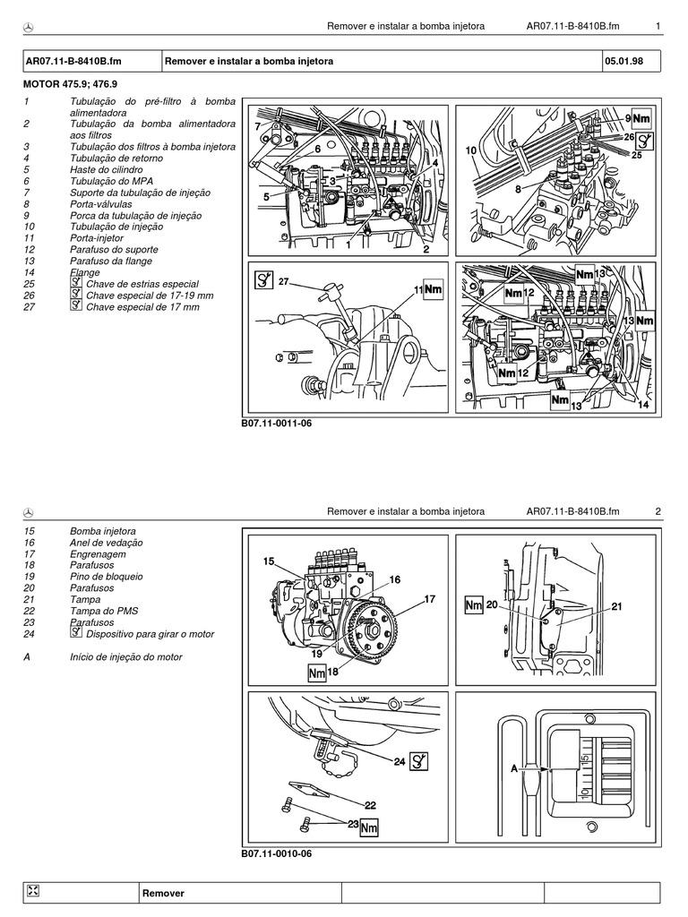 Bomba Injetora OM 447